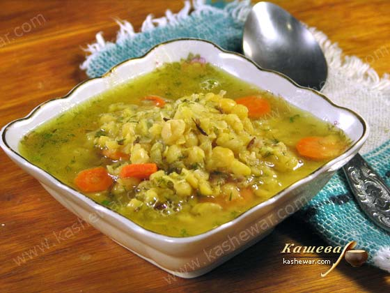 pea soup with carrot -recipe with photos, Indian cuisine